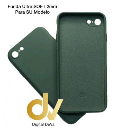 iPhone 12 Pro Max 6.7 Funda Silicona Soft 2mm Verde Militar