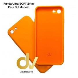 iPhone 12 Pro Max 6.7 Funda Silicona Soft 2mm Naranja