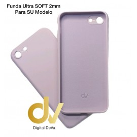 iPhone 12 Pro Max 6.7 Funda Silicona Soft 2mm Lila