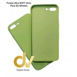 iPhone 12 Pro Max 6.7 Funda Silicona Soft 2mm Verde