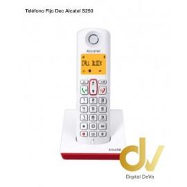 ALCATEL TELEFONO DEC S250 ROJO