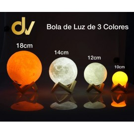 Bola De Luz 3 Colors 18cm