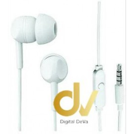 Auricular THOMSON EAR3005 BLANCO con Micrófono