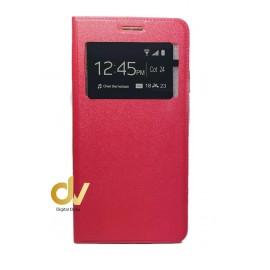 A12 5G Samsung Funda Libro 1 Ventana Con Cierre Imantada  Rojo