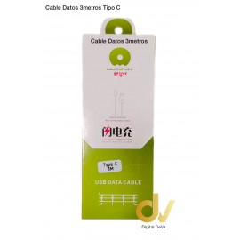 Cable Datos 3 Metros Tipo C